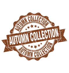 autumn collection stamp sign seal vector image