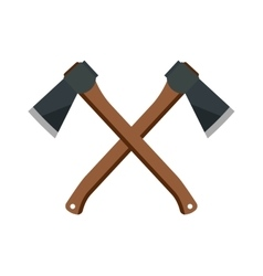 Axe steel isolated weapon icon vector image