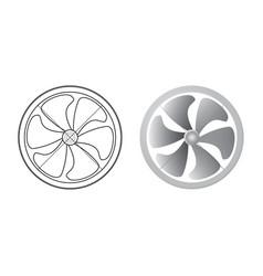axial flow fan vector image