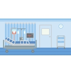 Background of hospital ward vector image