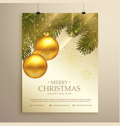 Beautiful christmas festival flyer template with vector