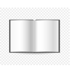 blank open book spread on a isolated background vector image