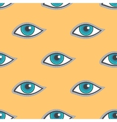 Blue eyes patch seamless pattern vector