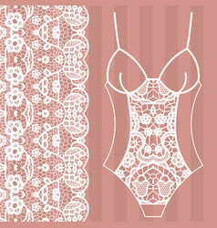 Body lingerie lacy beautiful body vector