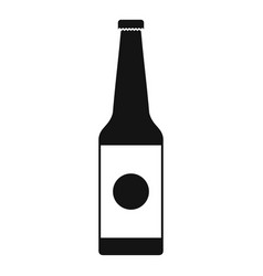 bottle water icon simple black style vector image