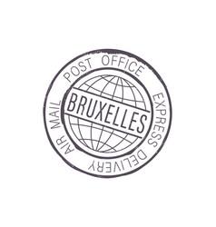 bruxelles international postal global service icon vector image