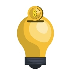 Bulb or big idea graphic design vector
