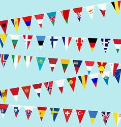 Bunting European Union flags vector image