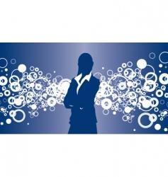 business bubble vector image