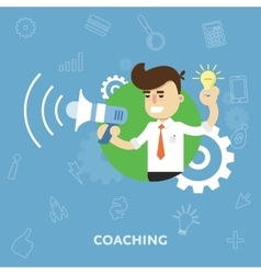 Business training flat abstract isolated vector