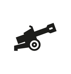 Cannon icon on white background vector