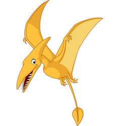 cartoon pterosaurs vector image