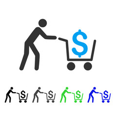 cash out flat icon vector image