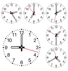 clockface vector image