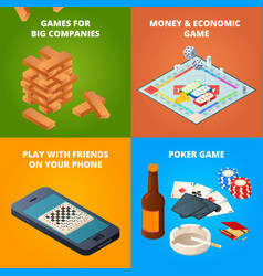 concept of board games checkers chess and other vector image