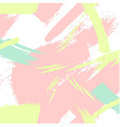 Creative pattern in pastel colors brush vector