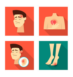 Damage and wound symbol vector