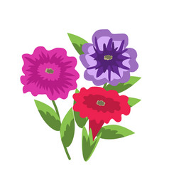 Decorative petunias vector
