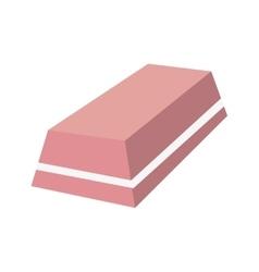 Eraser rubber tool vector