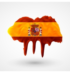 Flag of Spain painted colors vector