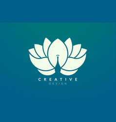 Flower and peacock design combined modern vector