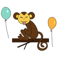 Funny brown monkey vector
