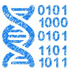 Genome code grunge icon vector