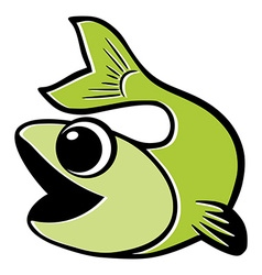Green fish Isolated vector image