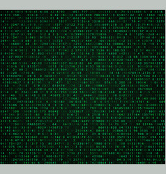 Green matrix background with digits vector
