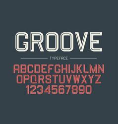 Groove decorative bold font design alphabet vector