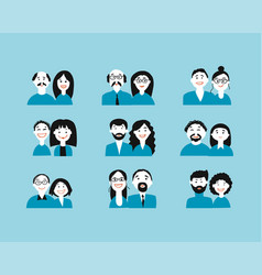 group people background for your design vector image