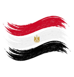Grunge brush stroke with national flag of egypt vector