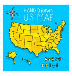 Cartoon Map Of Us Vector Images Over 130