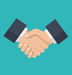 handshake of business partnershandshake icon vector image
