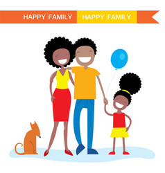 happy african american family members parents vector image