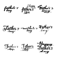 Happy fathers day - poster stamp badge insignia vector image