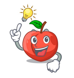 have an idea fruit of nectarine isolated on mascot vector image