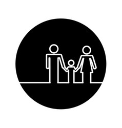 healthcare family silhouette icon vector image vector image