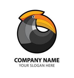hornbill bird business logo vector image