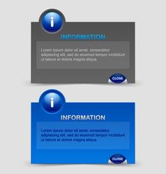 Information notification windows vector