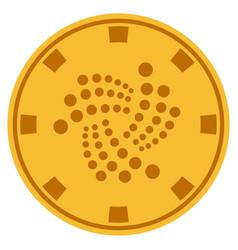 Iota coin gold casino chip vector