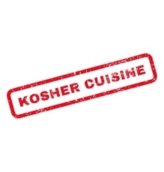 Kosher Cuisine Text Rubber Stamp vector