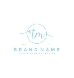 Letter tm feminine logo design vector
