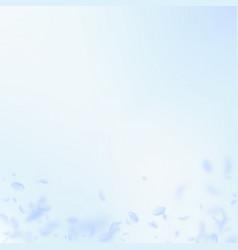 Light blue flower petals falling down wondrous ro vector