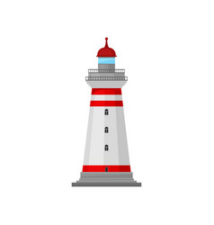 Lighthouse caretaker platform vector
