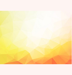 low poly yellow background vector image