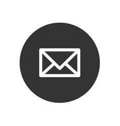 mail icon in modern style for web site and mobile vector image