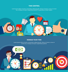 Manage your time banners vector