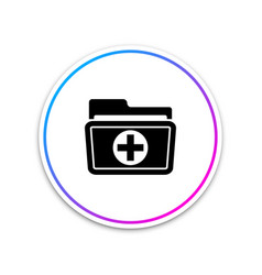 medical health record folder for healthcare icon vector image