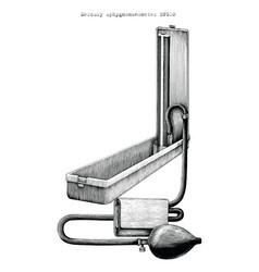 mercury meter sphygmomanometer vector image